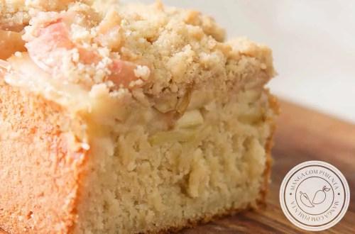 Receita de Cuca Alemã de Maçã - um prato tradicional da região sul do Brasil, delicioso para lanche!