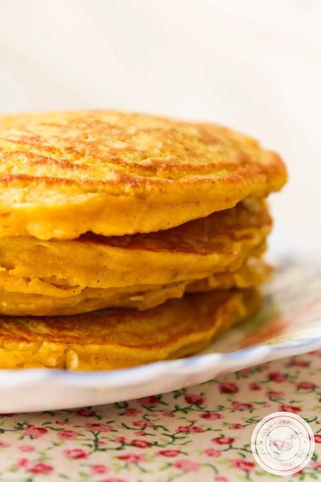 Receita de Panqueca de Abóbora com Aveia - um prato nutritivo para toda a família!