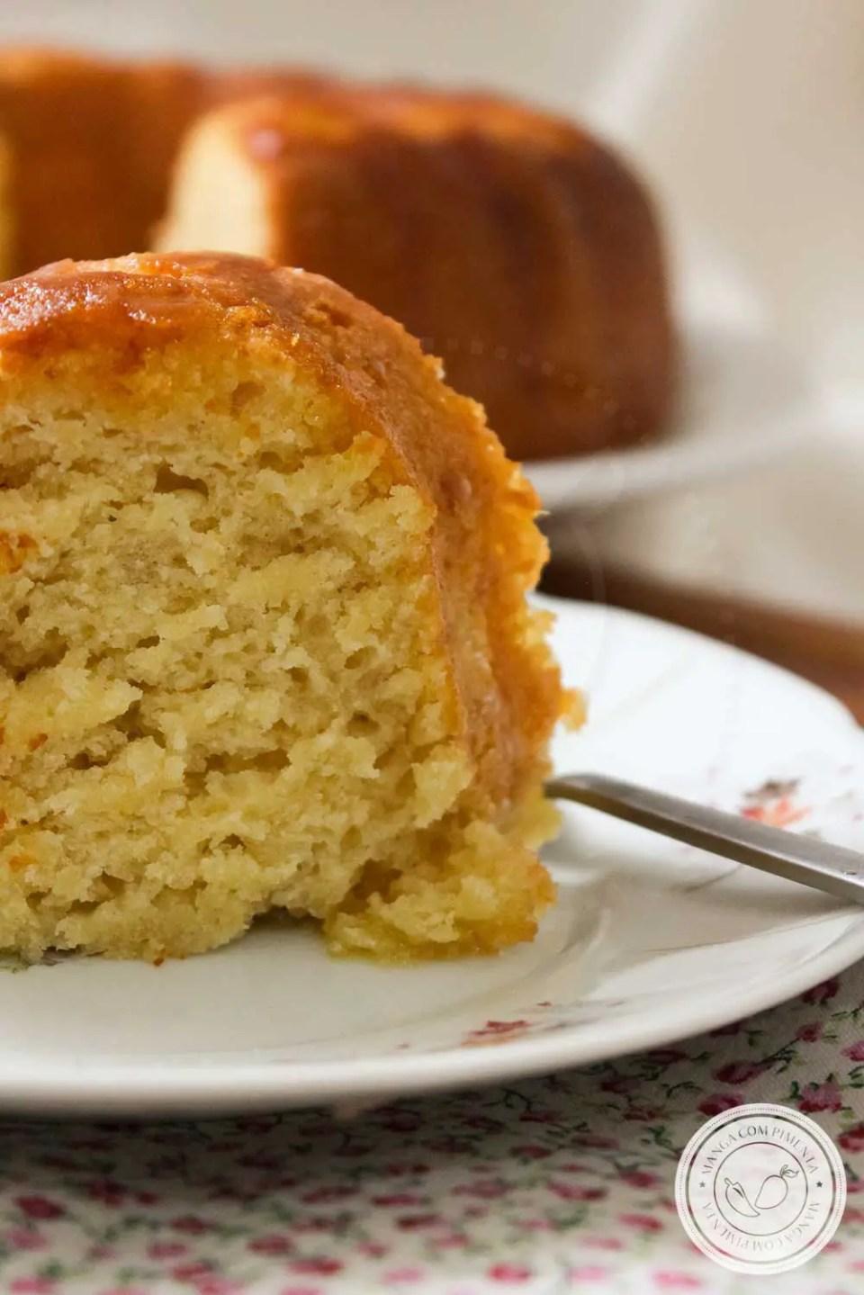 Receita de Bolo de Laranja sem Ovos - um doce caseiro para o café da manhã ou lanche da tarde da família!