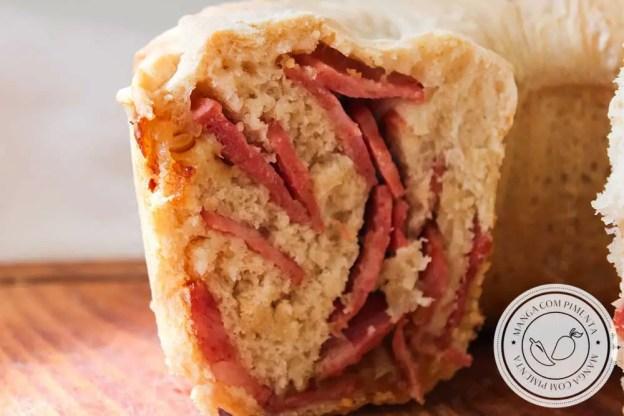 Receita de Pão de Calabresa - para um lanche caseiro neste final de semana com a família