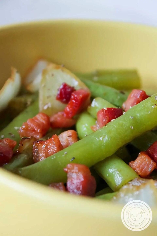 Receita de Vagem com Bacon e Cebola - para deixar a sua refeição mais saborosa.