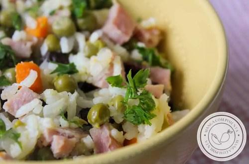 Receita de Arroz de Festa com Tender - aproveite o que sobrou da Ceia de Natal ou Ano Novo e prepare um arroz delícia para o almoço!