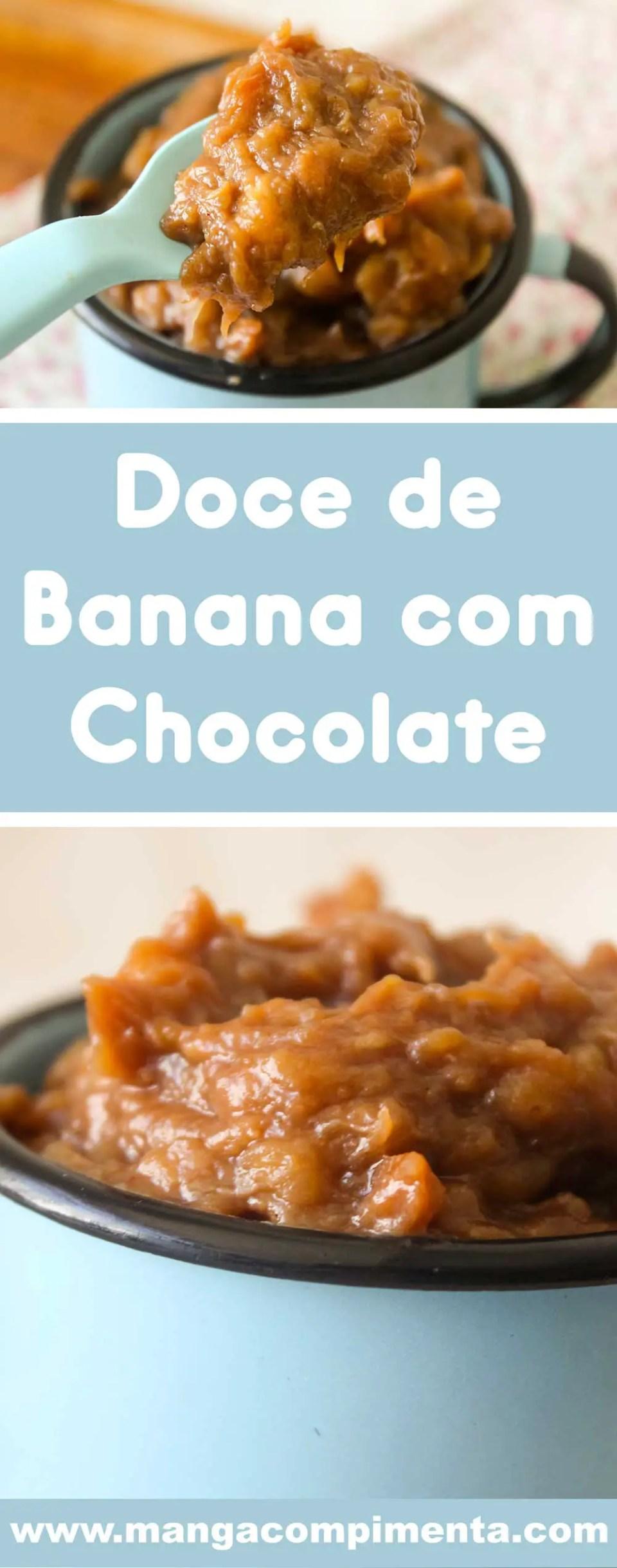 Receita de Doce de Banana com Chocolate - uma sobremesa caseira e deliciosa para lanchar!