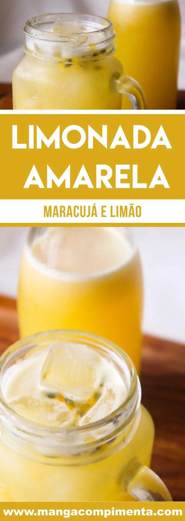 Receita de Suco de Limão e Maracujá - Limonada Amarela - uma bebida refrescante e deliciosa para os dias quentes de verão!