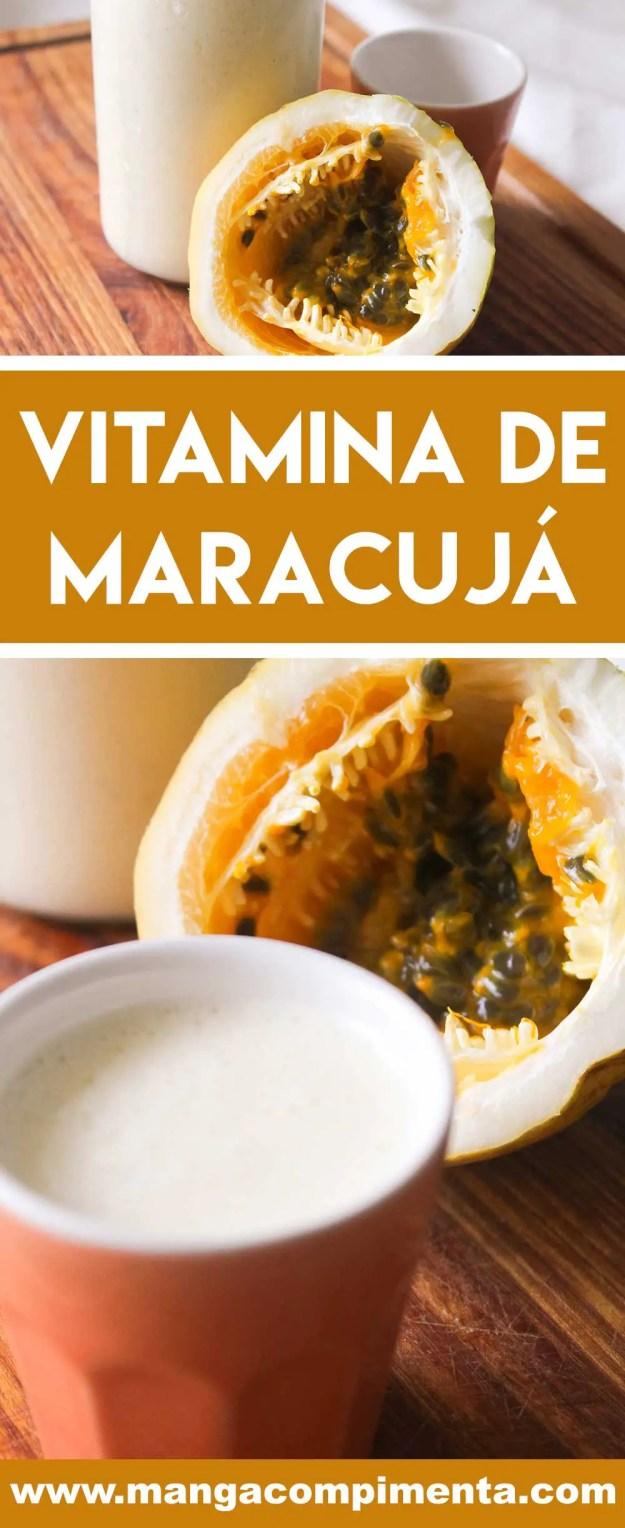 Receita de Vitamina de Maracujá - uma bebida calmante e deliciosa para começar bem o dia.