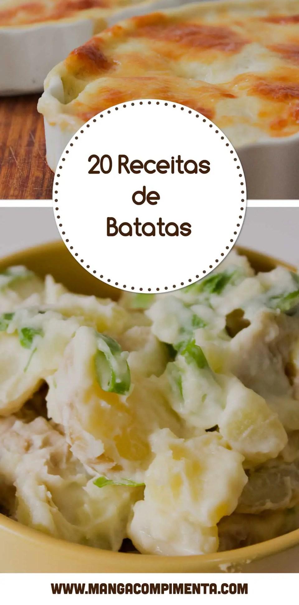 Receita de 20 Receitas de Batata para fazer em casa e servir para a família e amigos!