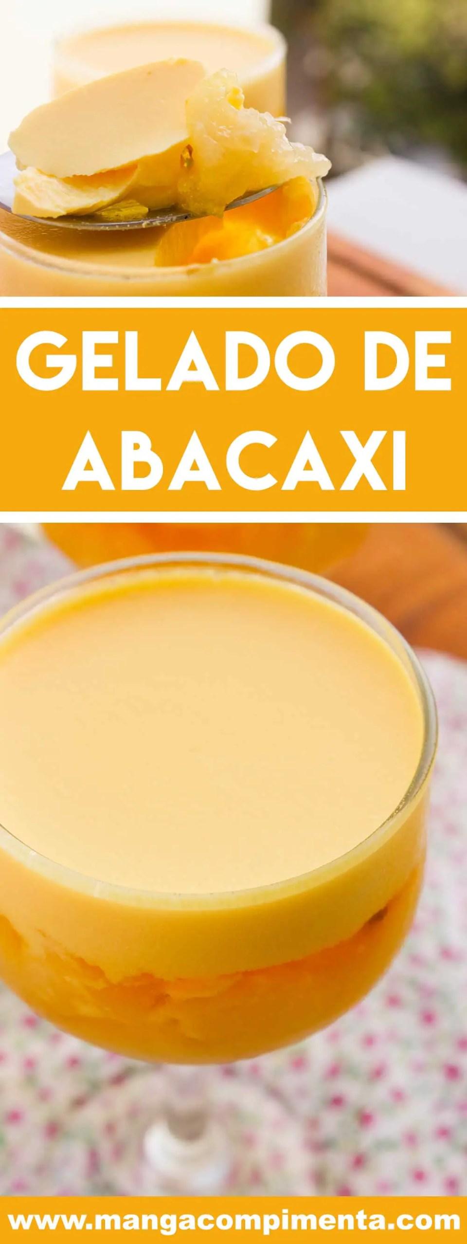 Receita de Gelado de Abacaxi - perfeito para o final de semana, sobremesa do final de semana.