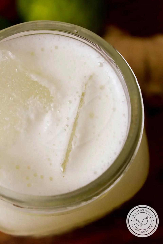 Receita de Limonada com Gengibre - uma bebida refrescante, além de ajudar a manter a saúde e evitar resfriado.
