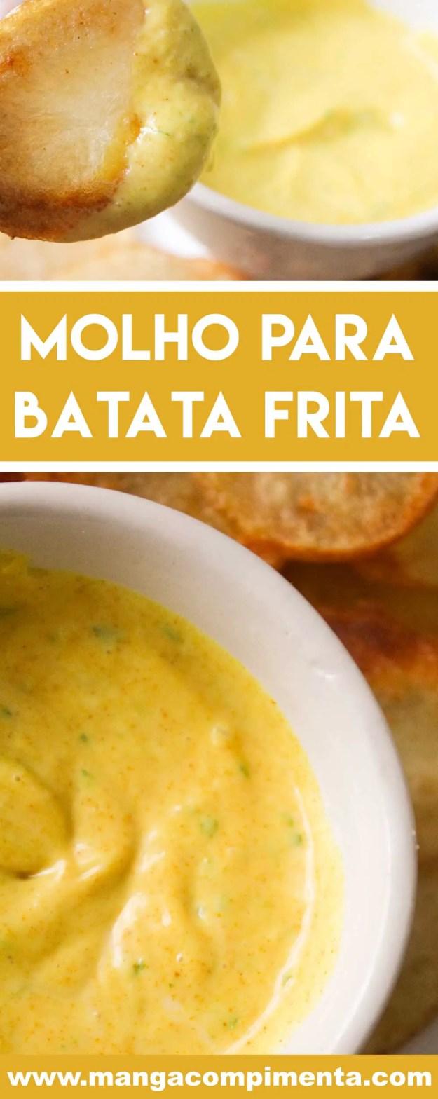 Receita de Molho para Batata Frita - chame os amigos, prepare as batatas fritas e sirva com uma bebida bem gelada!