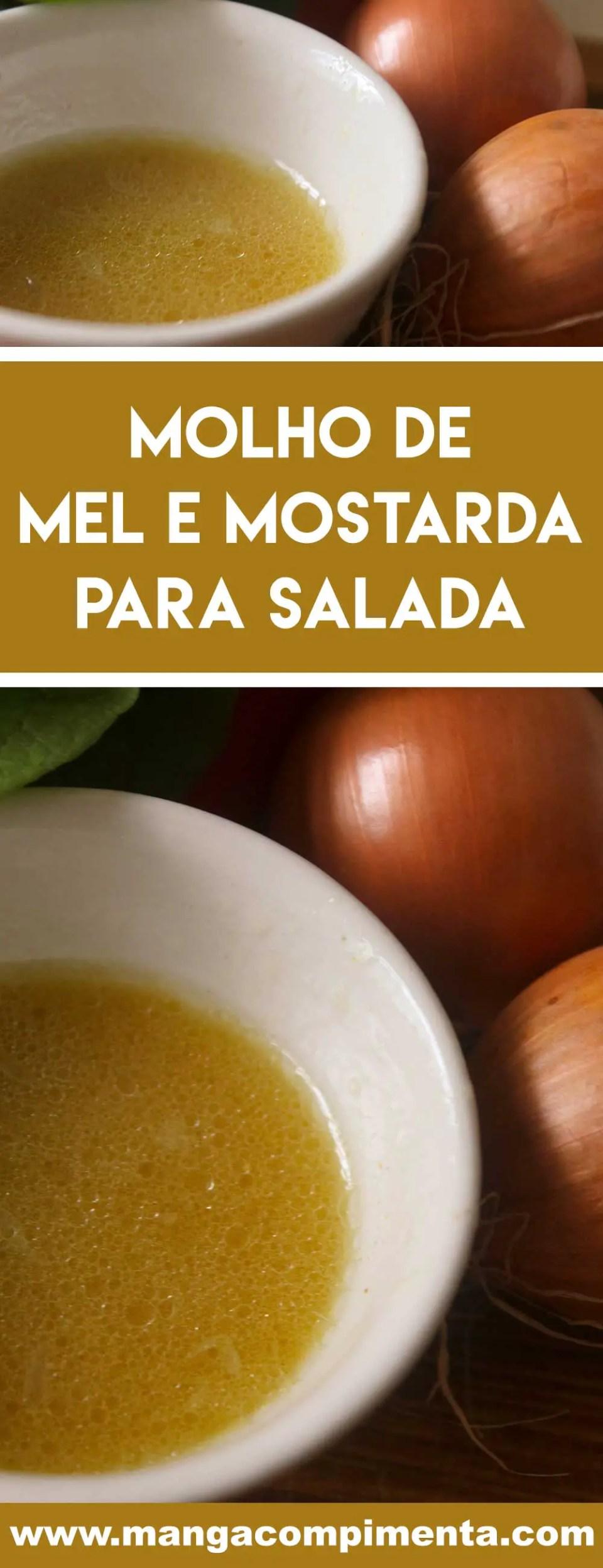 Receita de Molho de Mel e Mostarda para Salada - deixe as folhas de alface mais gostosa com esse tempero caseiro.