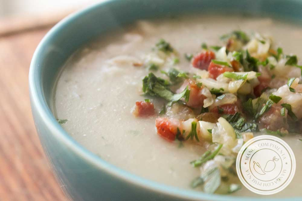 Receita de Sopa de Aipim e Bacon - prepare nos dias frios de inverno!