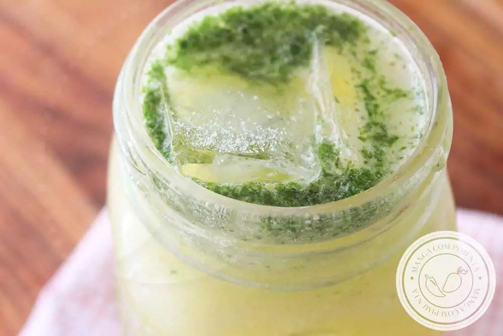 Receita de Suco de Maçã com Limão e Hortelã - uma bebida deliciosa para o lanche da tarde da família.