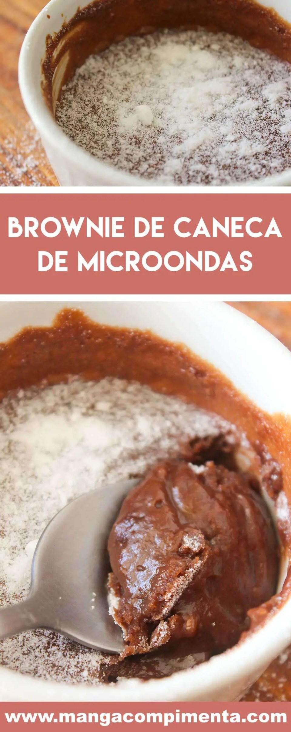 Receita de Brownie de Caneca de Micro-ondas - uma sobremesa vapt-vupt para quem está com vontade de comer um docinho.