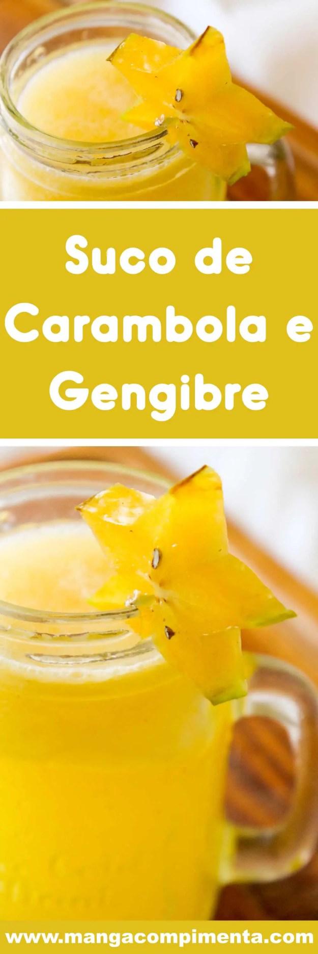 Receita de Suco de Carambola com Gengibre - uma bebida deliciosa para servir no lanche da tarde da família.