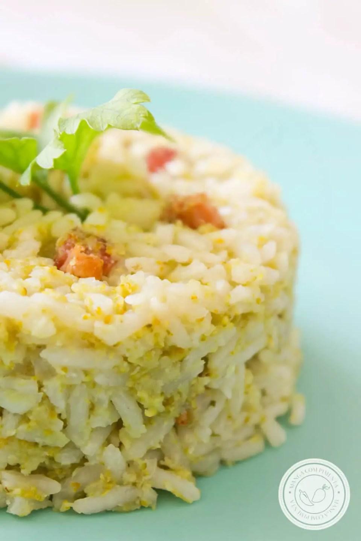 Receita de Arroz com Bacon e Brócolis - prepare um prato diferente para o almoço do final de semana.
