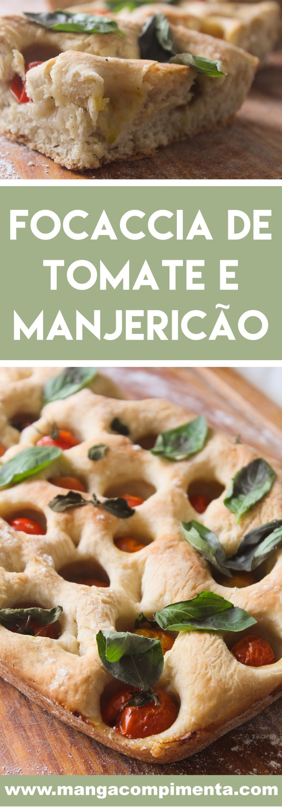 Receita de Focaccia de Tomate e Manjericão - um lanche delicioso para toda a família!