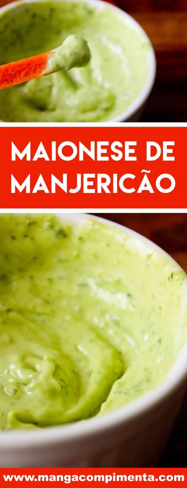 Receita de Maionese de Manjericão - uma pasta deliciosa para passar no pão ou para petiscar com os amigos!