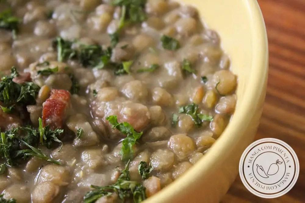 Receita de Lentilha Cozida - um prato básico e simples de preparar em casa para a família!