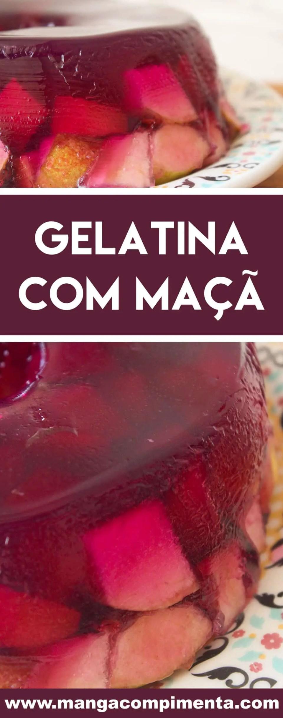 Receita de Gelatina com Maçã - prepare essa receita fácil para a sobremesa das Festas do Final de Ano.