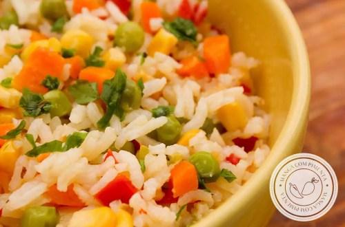 Receita de Arroz Colorido - prepare para o almoço da família e deixe o prato mais bonito (além de apetitoso).