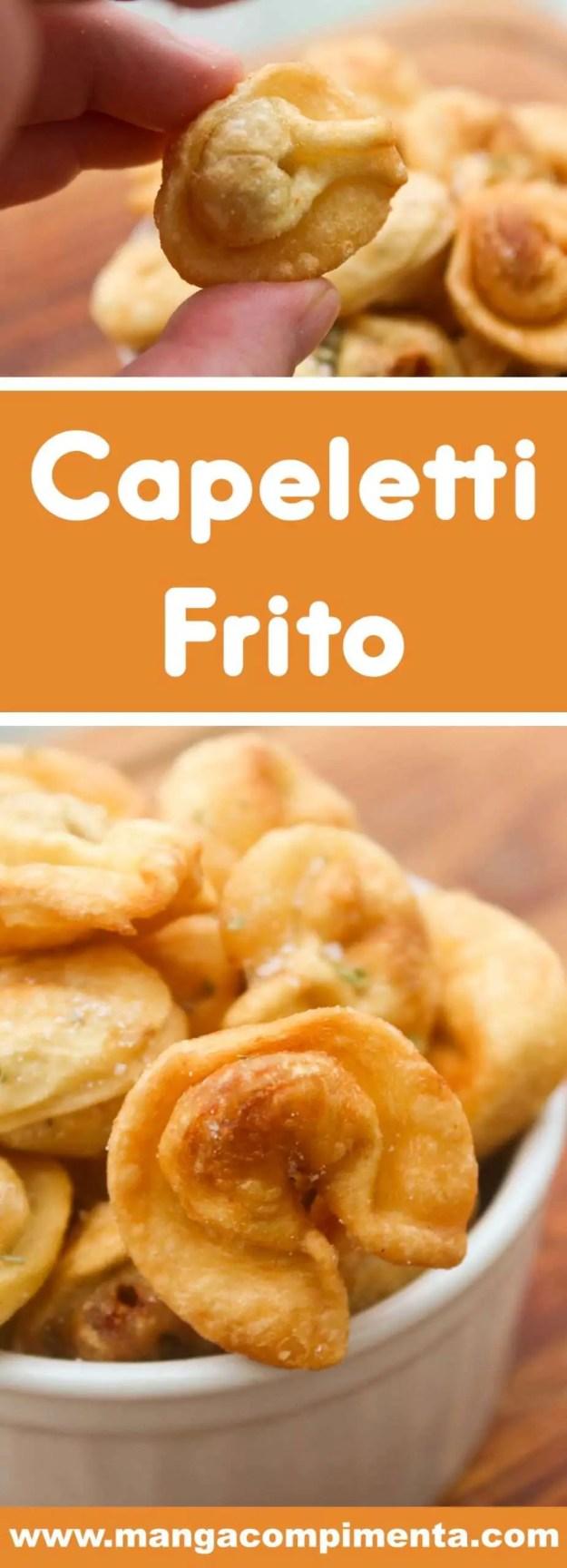 Receita de Capeletti Frito - prepare para petiscar com os seus amigos, assistindo um jogo ou curtindo o final de semana.
