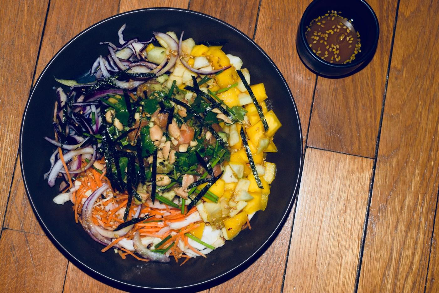 poke bowl, recette hawaïenne, salade hawaïenne, Tours