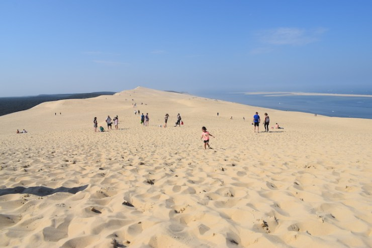 En haut de la Dune du Pilat (Landes)