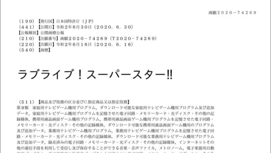 Sunrise Daftarkan Trademark Love Live! Superstar!!