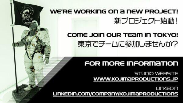 Kojima Productions Konfirmasi Pengerjaan Proyek Baru
