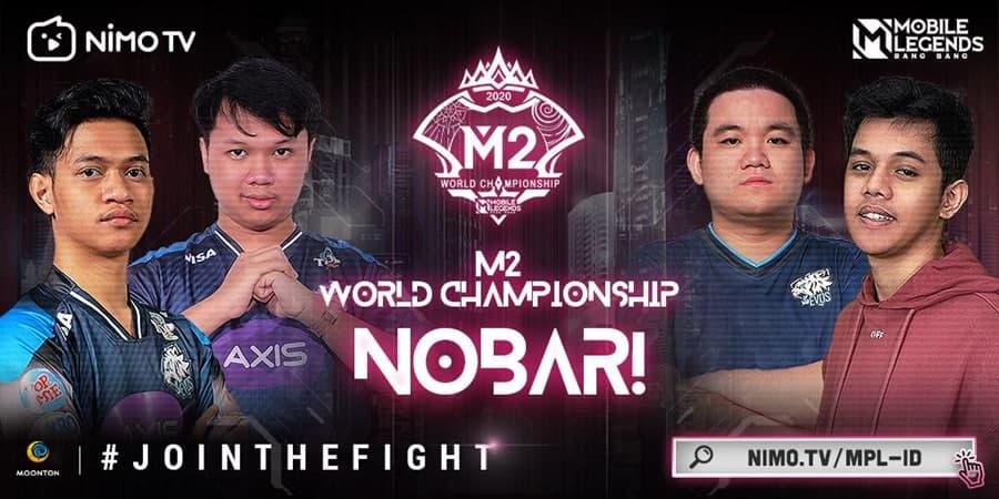 Dukung RRQ Hoshi dan Alter Ego Esports Juara M2 World Championship di Nimo TV