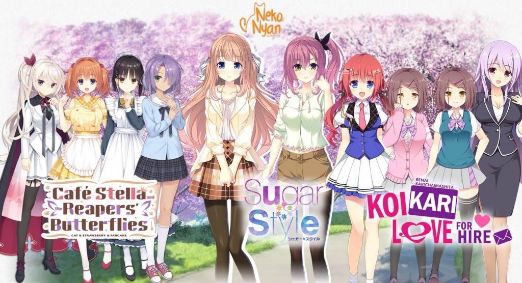 NekoNyan Umumkan Penerjemahan Lima Novel Visual Terbaru