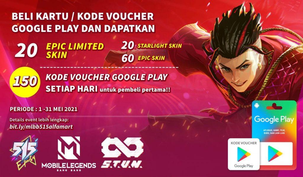 [Press Release] GRATIS EPIC LIMITED SKIN Mobile Legends Hanya di Alfamart dengan Kartu / Kode Voucher Google Play