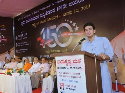 043 Sri Tejaswi Surya Addressing the gathering