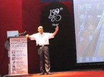 075 Prof Raghottam Rao Addressing the teachers