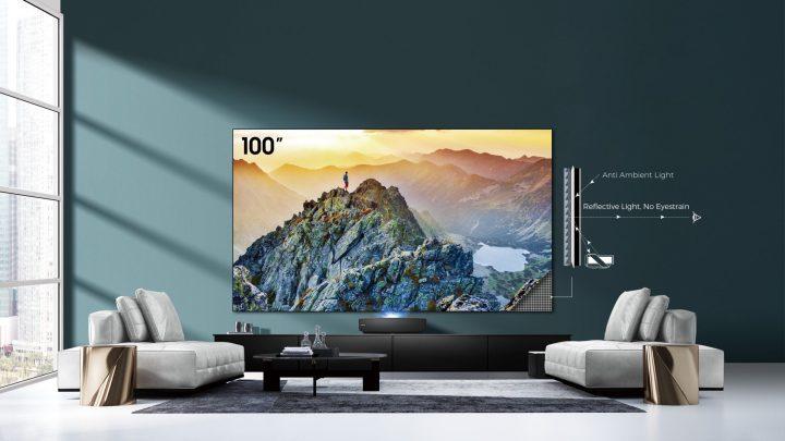 Hisense představuje laserový televizor s úhlopříčkou více než 2,5 metru