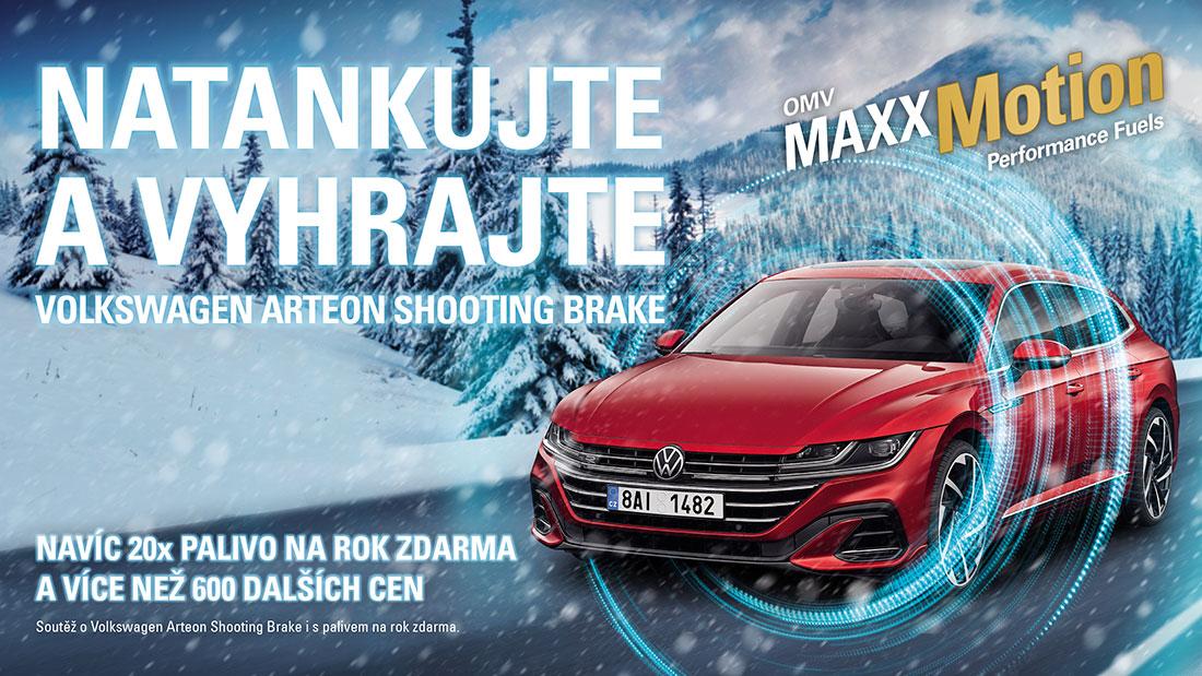 OMV zahájilo novou soutěž. Můžete vyhrát roční zápůjčku Volkswagen Arteon Shooting Brake včetně paliva