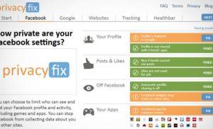 Privacyfix – Theo dõi mức độ riêng tư của bạn trên các trang mạng