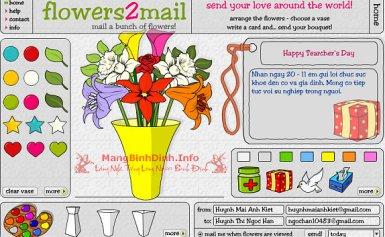 Cắm hoa… trực tuyến tặng thầy cô nhân ngày 20 – 11
