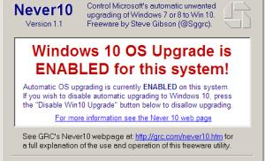Tắt chế độ tự động nâng cấp lên Windows 10 vĩnh viễn chỉ với 1 click chuột