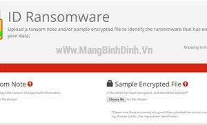 Thử truy tìm nguồn gốc Ransomware tại ID Ransomware để cứu dữ liệu đang bị mã hóa và tống tiền
