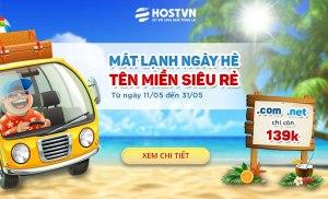 Khuyến mãi tên miền siêu rẻ tại Hostvn đầu hè 2016