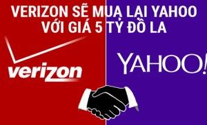 Verizon sẽ mua lại Yahoo với giá 5 tỷ đô la
