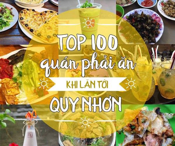 Top 100 quán phải ăn thử khi tới Quy Nhơn