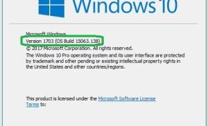 Cách kiểm tra Windows 10 đã cài bản Creators Update hay chưa