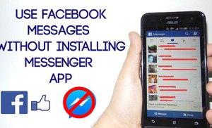 Chat Facebook trên mobile không cần đến Messenger
