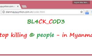 Website Điện máy Quy Nhơn bị tấn công