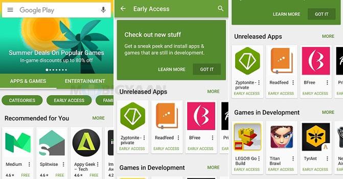 Danh sách các ứng dụng chưa được phát hành trên Play Store