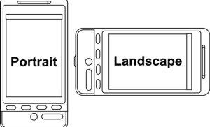 CSS cho đối tượng trên màn hình di động lật ngang và dọc