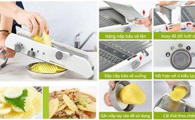 Dụng cụ cắt thái rau củ đa năng – Tiết kiệm thời gian khi vào bếp!