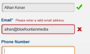 Các cách kiểm tra điều kiện trống trong form đăng ký, liên lạc